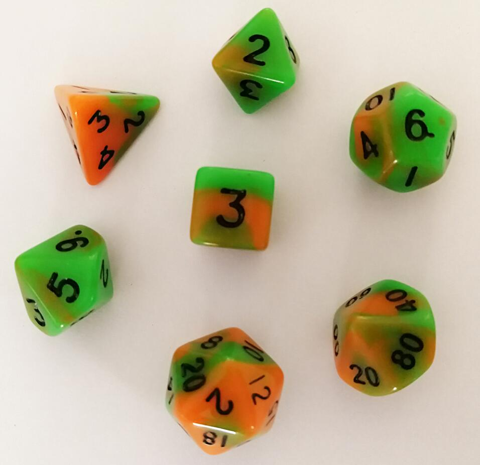 Double Color Dice Set -No.14